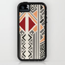Tribal ethnic geometric pattern 034 iPhone Case