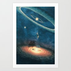 My dream house is in another galaxy Art Print