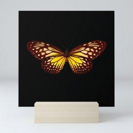 Butterfly - Yellow Brown & Black - Back Lit Glow Mini Art Print