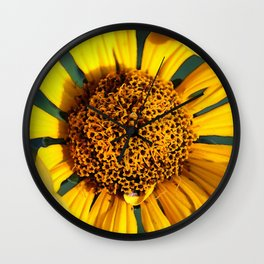 Horicon Marsh Sunflower Wall Clock