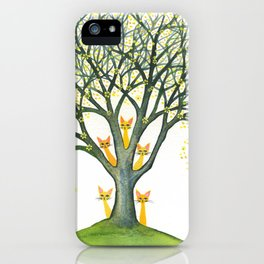 Odessa Whimsical Cats in Tree iPhone Case