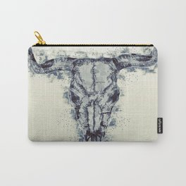 Polygonal Buffalo Skull Carry-All Pouch