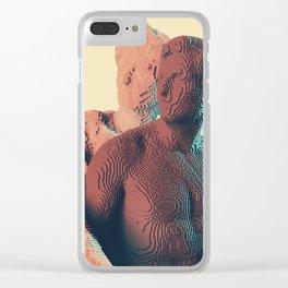 3d pixels are voxels Clear iPhone Case