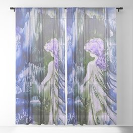 Lost Girl 2 - Blue Forest Sheer Curtain