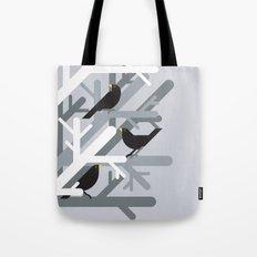 Three Blackbirds vector illustration Tote Bag