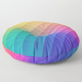 Spectrum Bomb! Fruity Fresh (HDR Rainbow Colorful Experimental Pattern) Floor Pillow