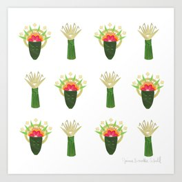 Palm Leaf and Flower Offerings Art Print