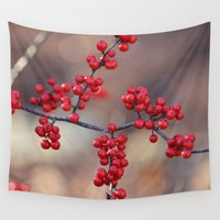 sparkles Wall Tapestries featuring Berry Sparkles by BACK to THE ROOTS