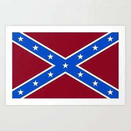 Rebel Flag Art Print