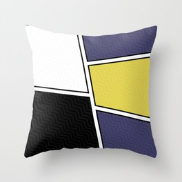 Abstract Geometric Waves Pattern Throw Pillow