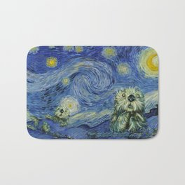 Starry Monterey Night (for Mikaela) Bath Mat