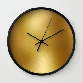 Pure Gold Print Wall Clock