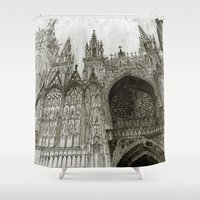 takmaj Shower Curtains featuring Rouen facade by takmaj