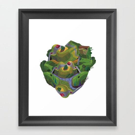 Green Brain Framed Art Print