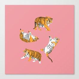 Chubby Tigers Canvas Print