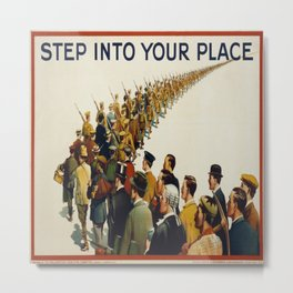 Vintage poster - Step into your place Metal Print