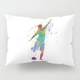 Woman soccer player 09 in watercolor Pillow Sham
