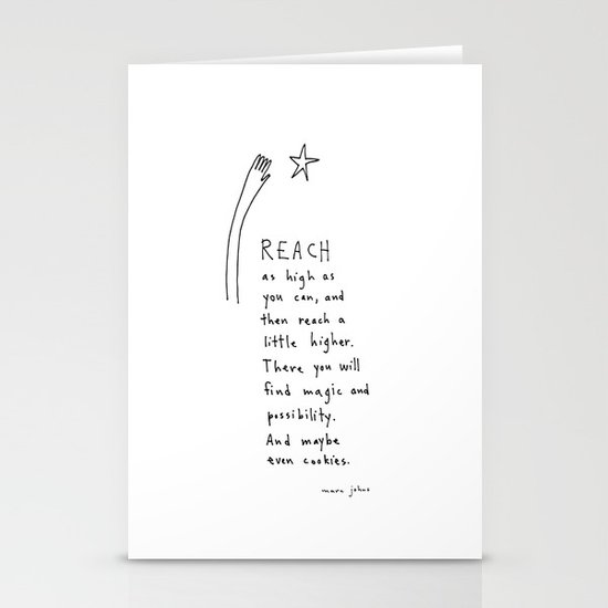 reach as high as you can Stationery Cards