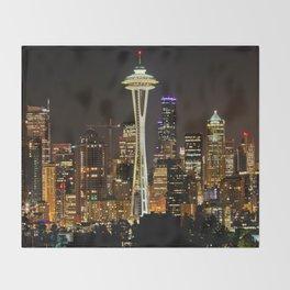Seattle Space Needle & Cityscape Throw Blanket