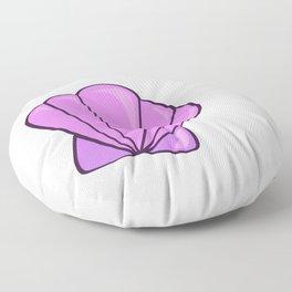 sea shell bra purple Floor Pillow