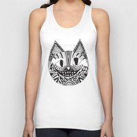 cheshire cat Tank Tops featuring  CHESHIRE CAT by Vasare Nar