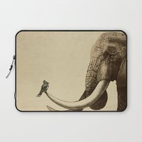elephant Laptop Sleeves featuring Old Friend by Eric Fan