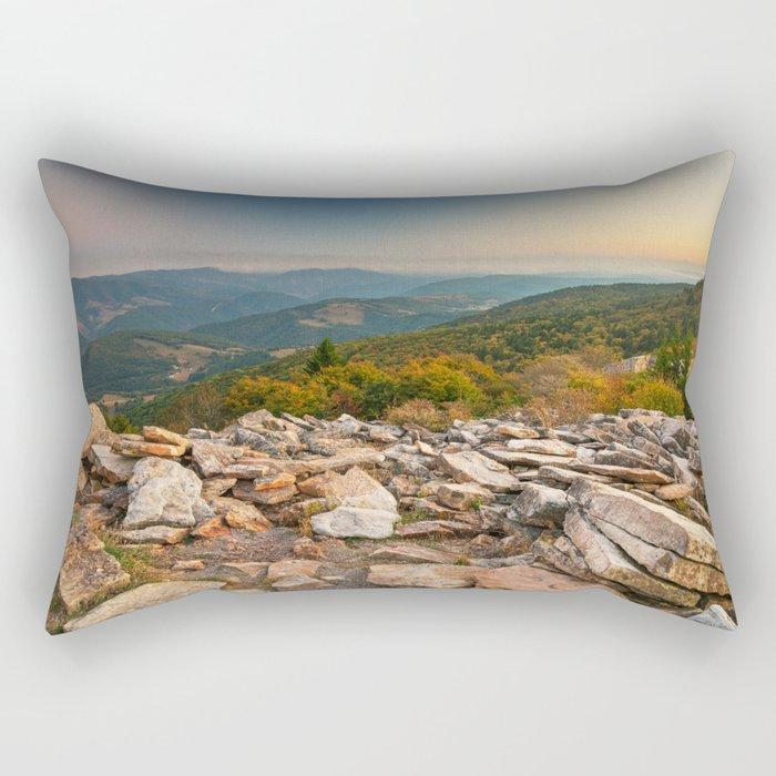Spruce Knob Mountain Sunset Rectangular Pillow