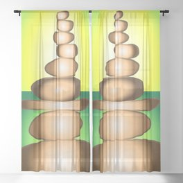 CAIRN Earth Sheer Curtain
