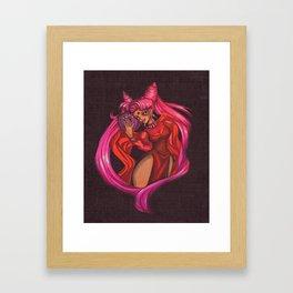 Black Lady on Canvas Framed Art Print