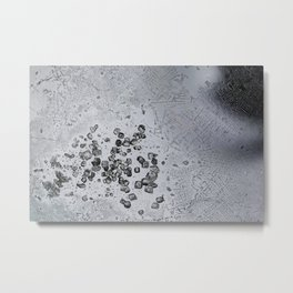 Crystals of freshly purified α,α′-Dibromo-o-xylene pt.1  Metal Print