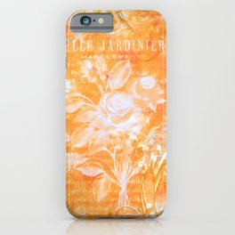 French Twist Orange iPhone Case