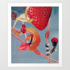 Wild Roller Coaster Rides Stringing Heartbeats with Deep Kisses and the Sun Going Down Art Print
