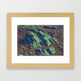 coastal pastel Framed Art Print