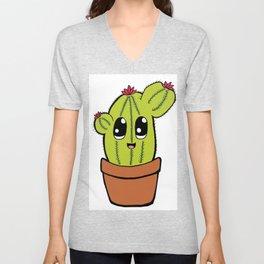 The cuddly cactus Unisex V-Neck