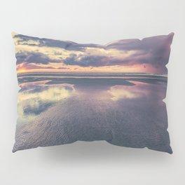 Stormy Beach Sunset Pillow Sham