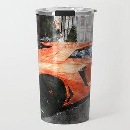 Orange Car Travel Mug