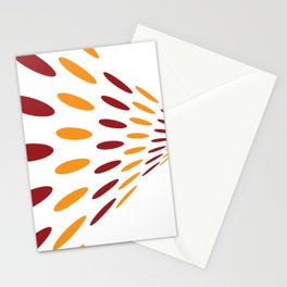 BROWN AND ORANGE DOTS  ON A WHITE BACKGROUND Abstract Art Stationery Cards