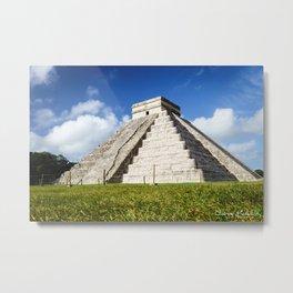 Chichen Itza Yucatan Mexico Metal Print