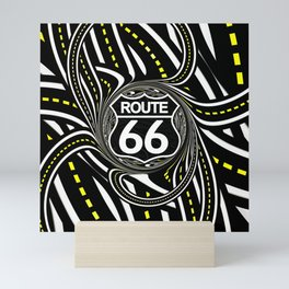 An Infinite Fractal Road on the Legendary Route 66 Mini Art Print