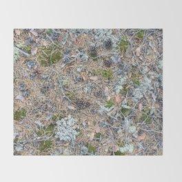 The Forest Floor Throw Blanket