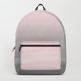 Touching Blush Gray Watercolor Abstract #2 #painting #decor #art #society6 Backpack