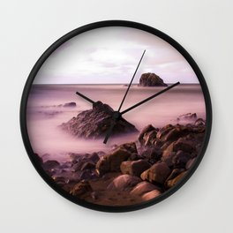 Black Rock, Widemouth Bay, Bude, Cornwall, England, UK Wall Clock