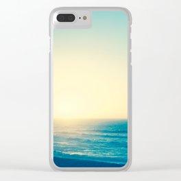 Blue Romance Clear iPhone Case