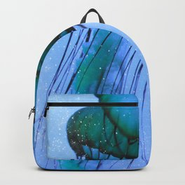 Blue Glow Jelly Fish Backpack