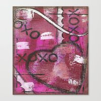 xoxo Canvas Prints featuring XOXO by Kimberly McGuiness