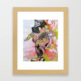 Dino-man Framed Art Print