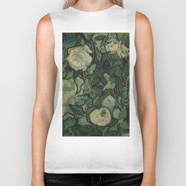 """Vincent Van Gogh """"Roses"""" Biker Tank"""