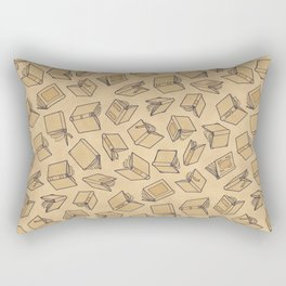 Neutral Novels - Blue Rectangular Pillow