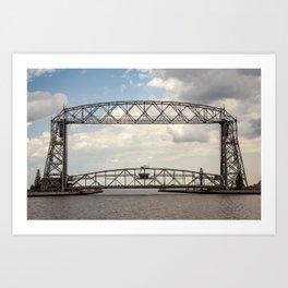 Aerial Lift Bridge-color Art Print