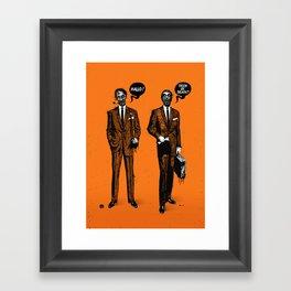 HALLOWEEN ZOMBIES Framed Art Print